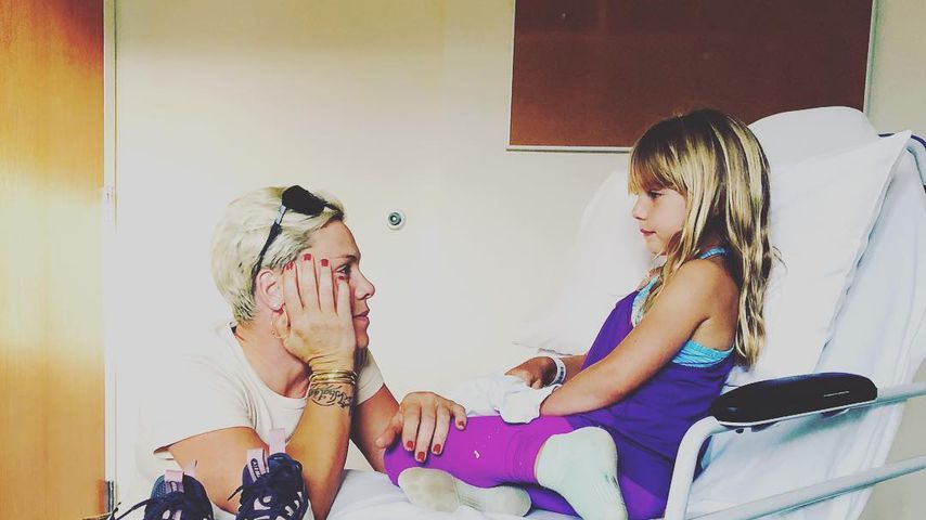 Sängerin Pink mit ihrer Tochter Willow