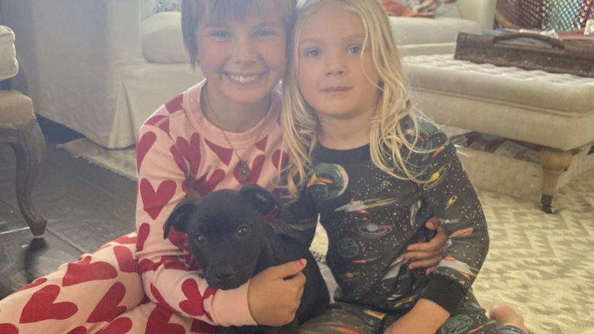 Pinks Kinder Willow und Jameson und der neue Familienhund Habañero