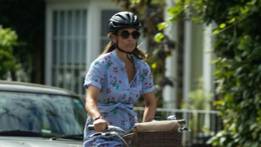 Sportlich! Pippa Middleton fährt mit XXL-Babybauch noch Rad