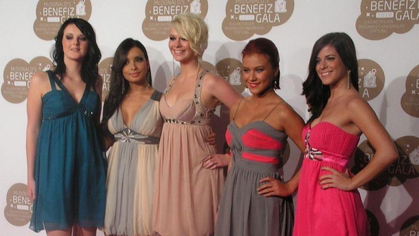 Popstars-Mädels: Keine Spur von Lampenfieber?