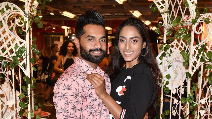 Sayana mit ihrem Ex-Freund Prash