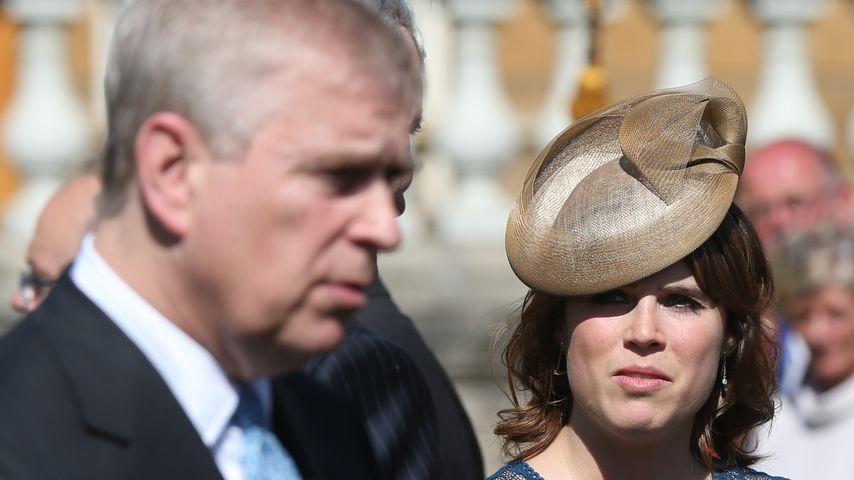 Prinz Andrew und Prinzessin Eugenie im Mai 2017 in London