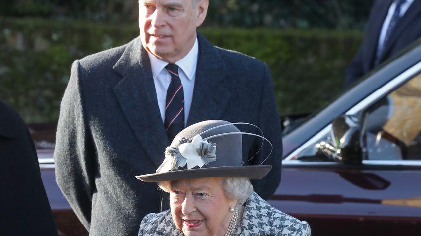 Prinz Andrew und Queen Elizabeth II. im Januar 2020
