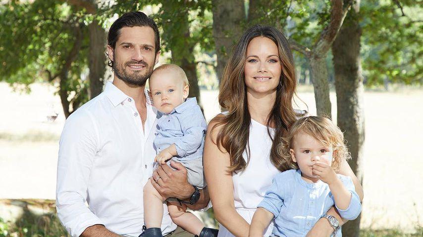 Prinz Carl Philip und Prinzessin Sofia mit ihren Söhnen Prinz Gabriel und Prinz Alexander
