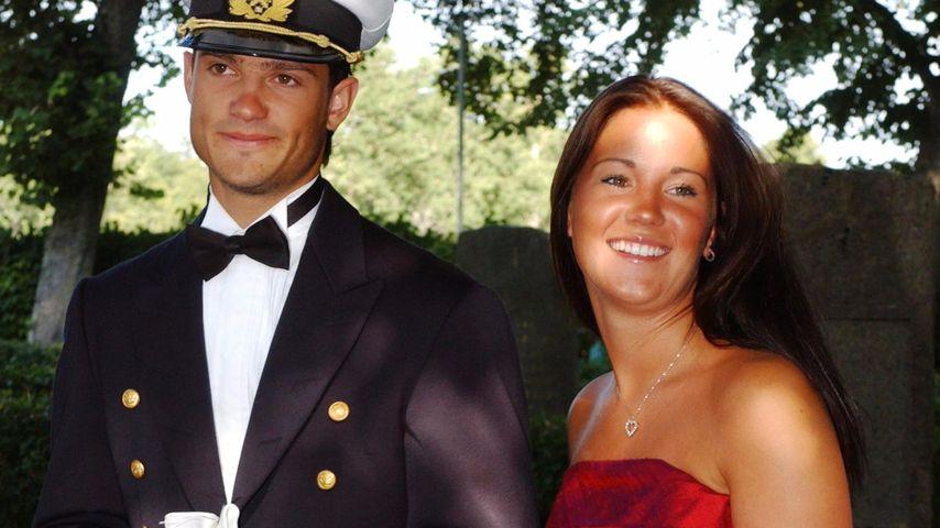 Prinz Carl Philip und seine Freundin Emma im Jahr 2003