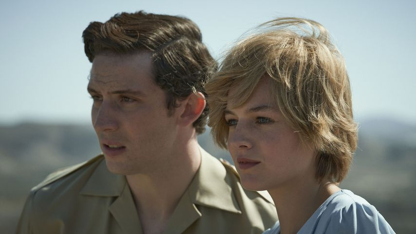 "Prinz Charles (Josh O'Connor) und Lady Diana (Emma Corrin) in ""The Crown"""