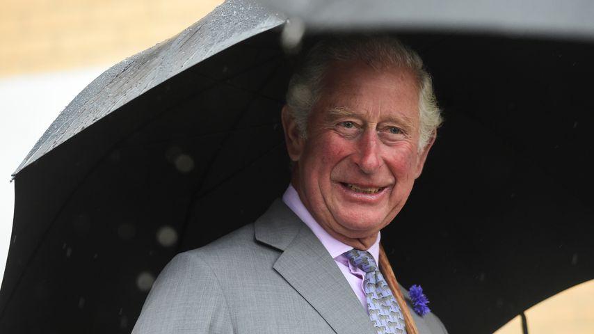Prinz Charles bei einem Besuch eines Krankenhauses in Merthyr Tydfil