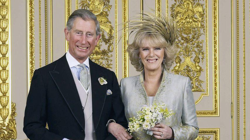 Prinz Charles und Herzogin Camilla bei ihrer Hochzeit im April 2005