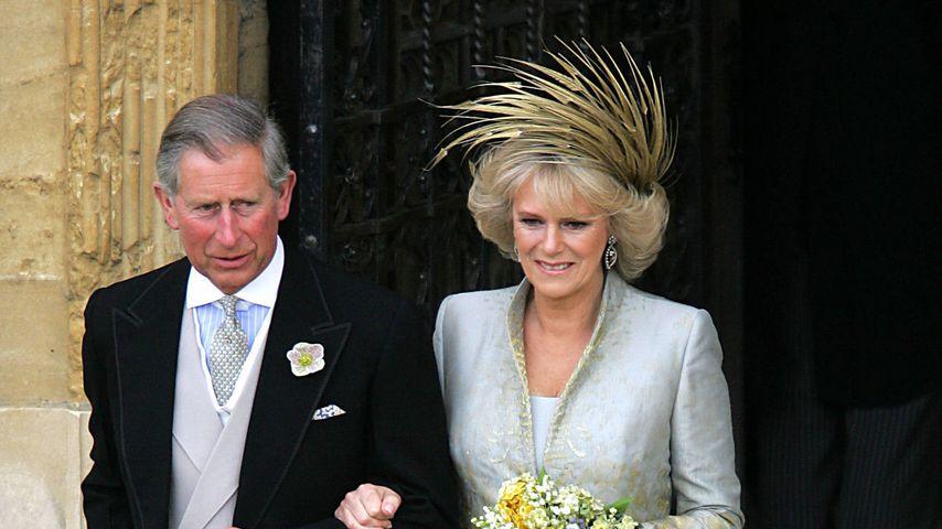 Prinz Charles und die Herzogin von Cornwall bei ihrer Hochzeit 2005