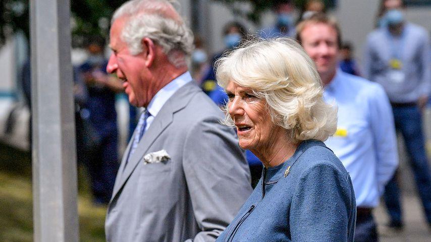 Prinz Charles und Herzogin Camilla im Gloucestershire Royal Hospital, Juni 2020