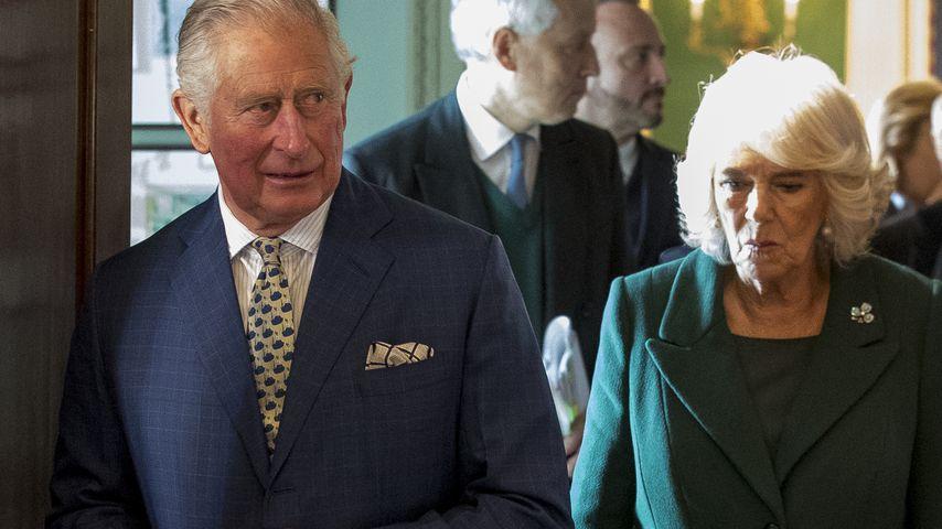 Prinz Charles und Herzogin Camilla auf einem Empfang in Belfast