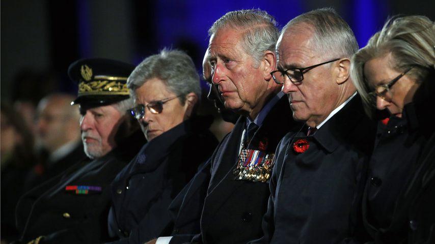 Prinz Charles und Malcolm Turnbull, Premierminister von Australien bei der Gedenkfeier zum Anzac Day