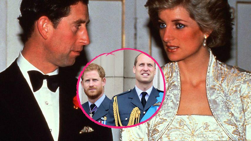 Trennung von Charles & Diana: So reagierten Harry & William
