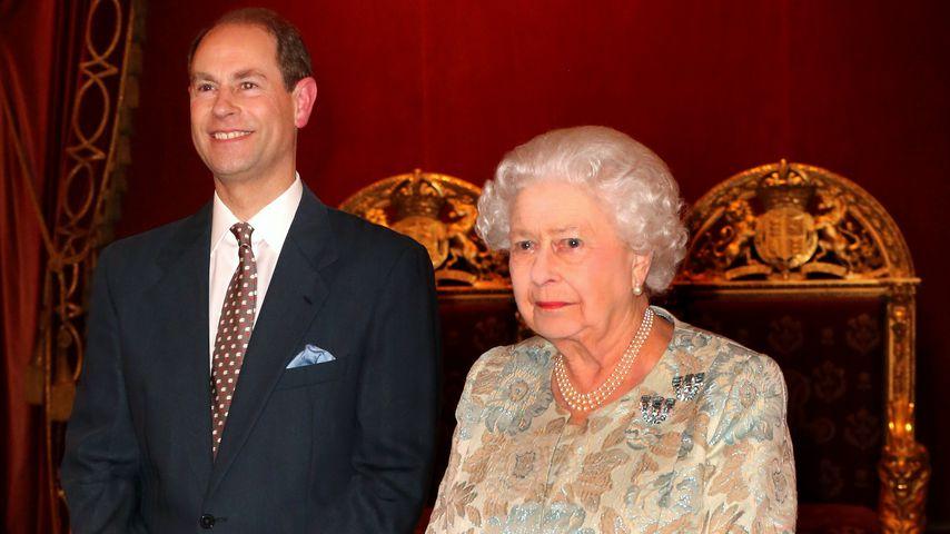 Prinz Edward und seine Mutter, Queen Elizabeth II.