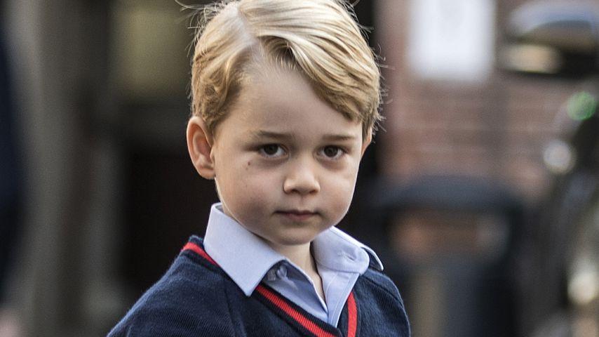 Prinz George an seinem ersten Schultag in London