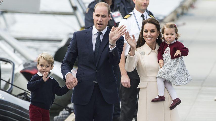 Prinz George, Prinz William, Herzogin Kate und Prinzessin Charlotte amn Tag 8 ihrer Kanada-Reise