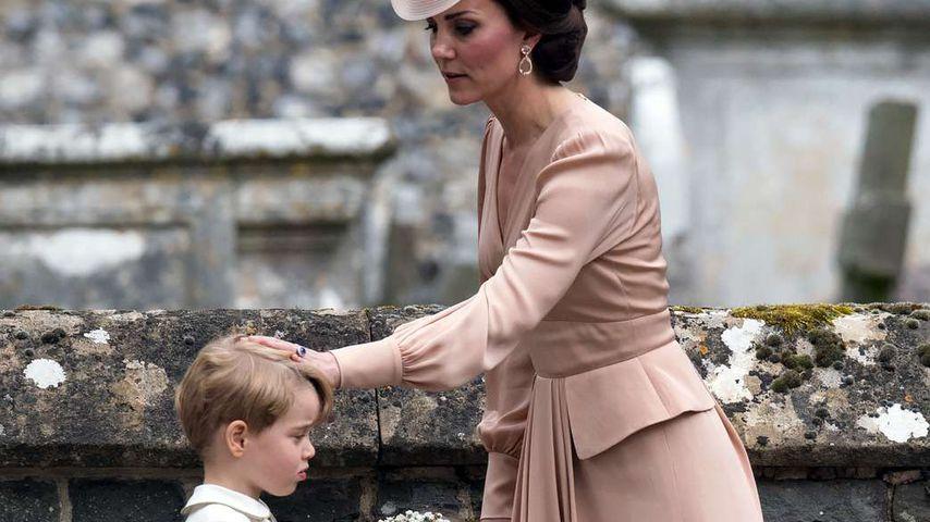 Prinz George, Prinzessin Charlotte und Herzogin Kate bei Pippa Middletons Hochzeit