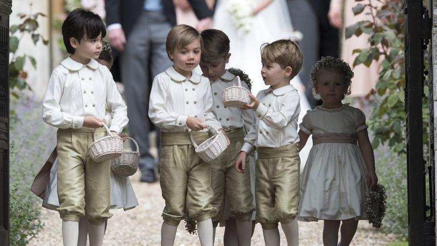 Prinz George (re.) und die Page Boys bei Pippa Middletons Hochzeit