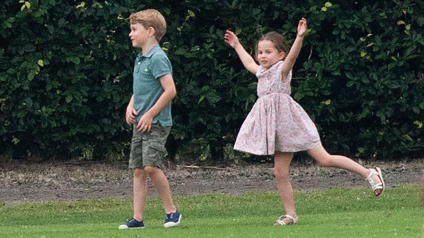 Prinz George und Prinzessin Charlotte im Juli 2019 in Wokingham