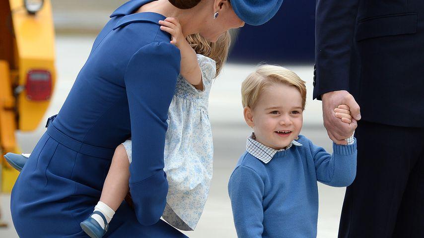 Prinz George am Flughafen von Victoria, Kanada
