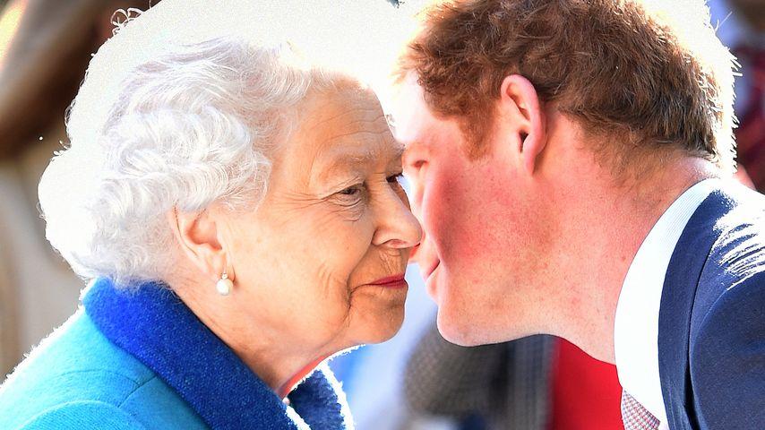 Queen Elizabeth II. schlägt Prinz Harry zum Ritter!