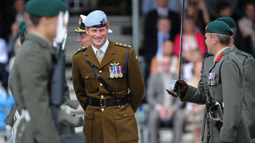 Prinz Harry bei der Royal Marine im August 2013