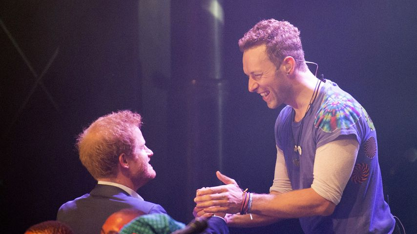 Prinz Harry und Chris Martin bei einem Charity-Konzert in London