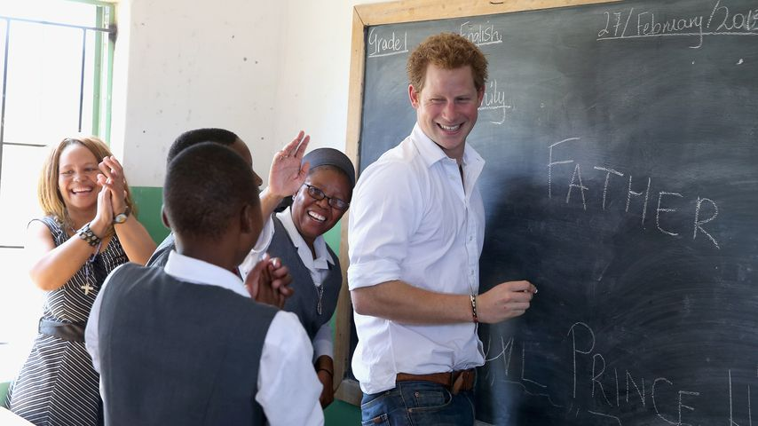 Prinz Harry in einer Schule in Lesotho
