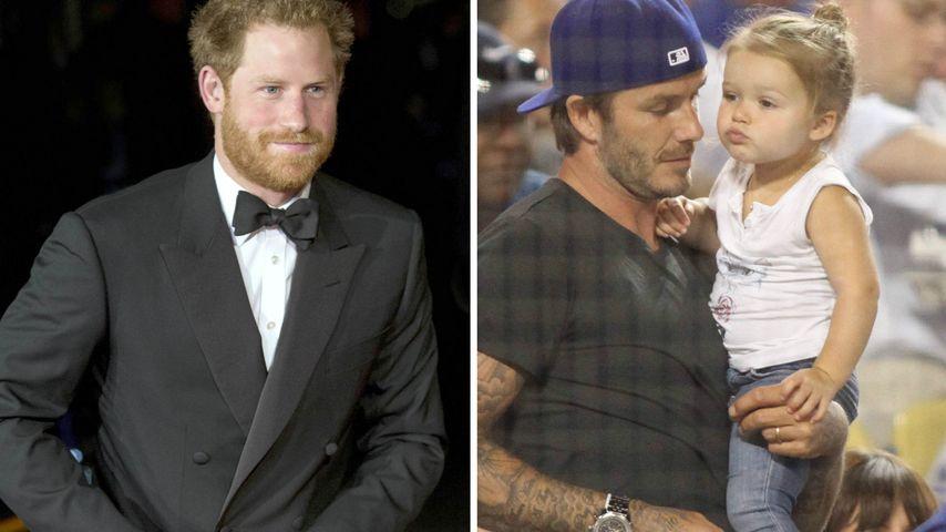 Royale Begegnung: Prinz Harry macht Harper Seven verlegen