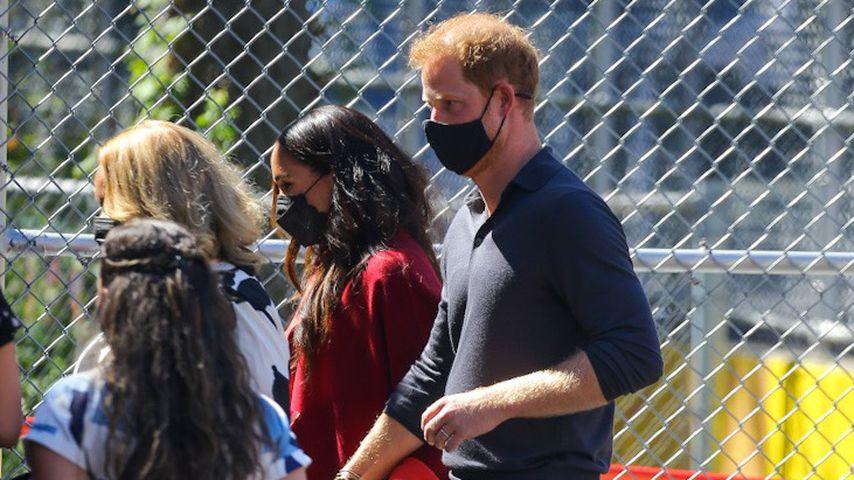 Prinz Harry und Herzogin Meghan bei einem Schulbesuch, September 2021