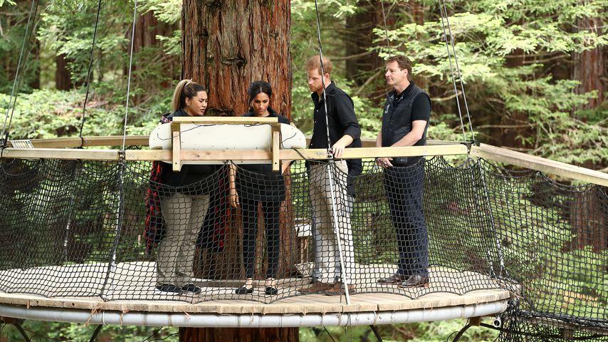 Prinz Harry und Herzogin Meghan im Redwoods-Wald in Neuseeland