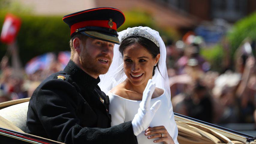 Prinz Harry und Meghan Markle an ihrem Hochzeitstag in Windsor