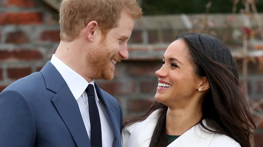 Prinz Harry und Meghan Markle bei ihrer Verlobungsverkündung
