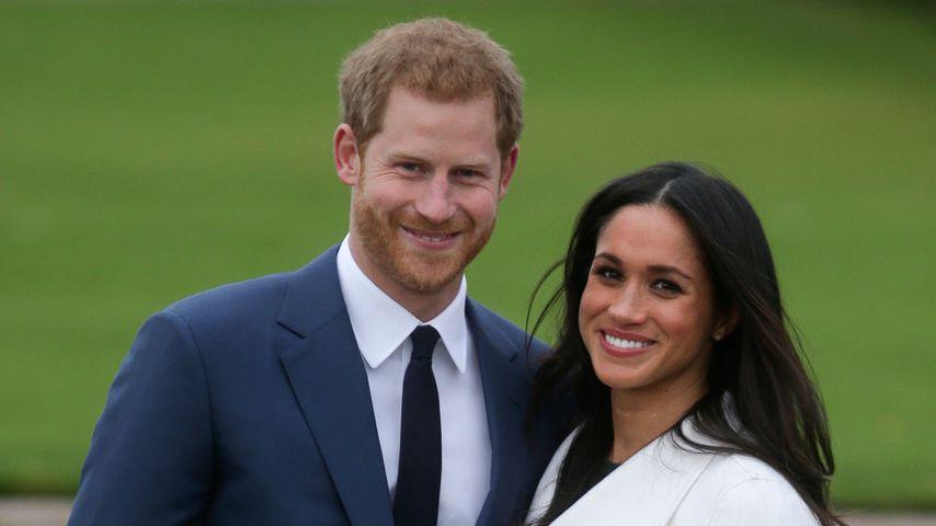 Prinz Harry und Meghan Markle bei ihrer Verlobungsankündigung