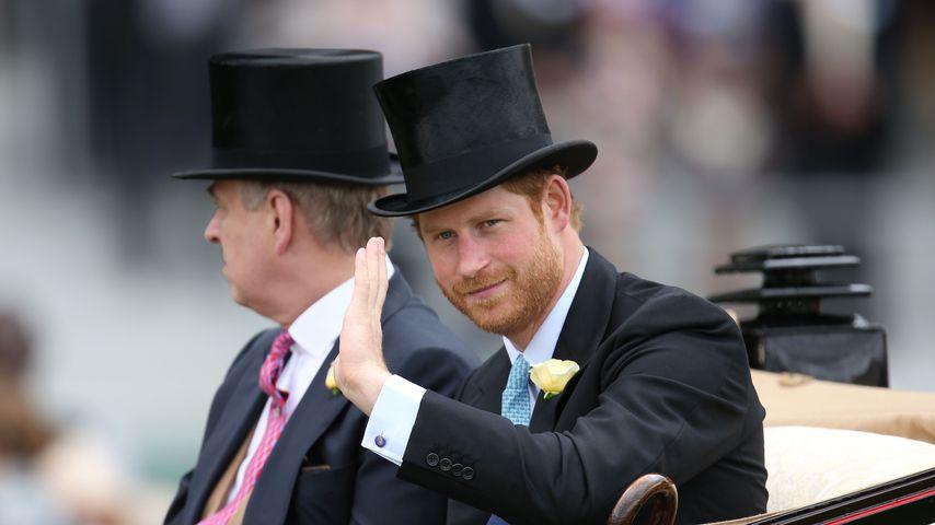 Prinz Harry und Prinz Andrew beim Royal Ascot 2016