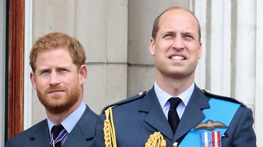 Prinz Harry und Prinz William in London im Juli 2018