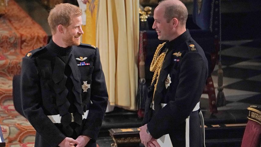 Prinz Harry und Prinz William in der St. George's Chapel in Windsor im Mai 2018