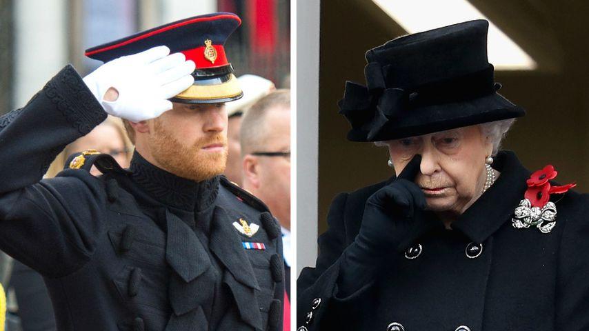 Royale Emotionen: Harry empört mit Bart & die Queen weint!