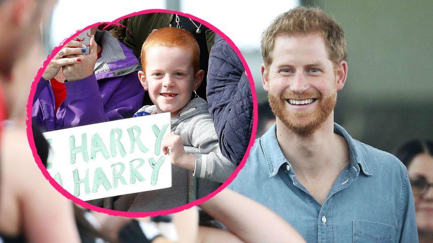 Königlicher Doppelgänger: Prinz Harry trifft Mini-Zwilling!