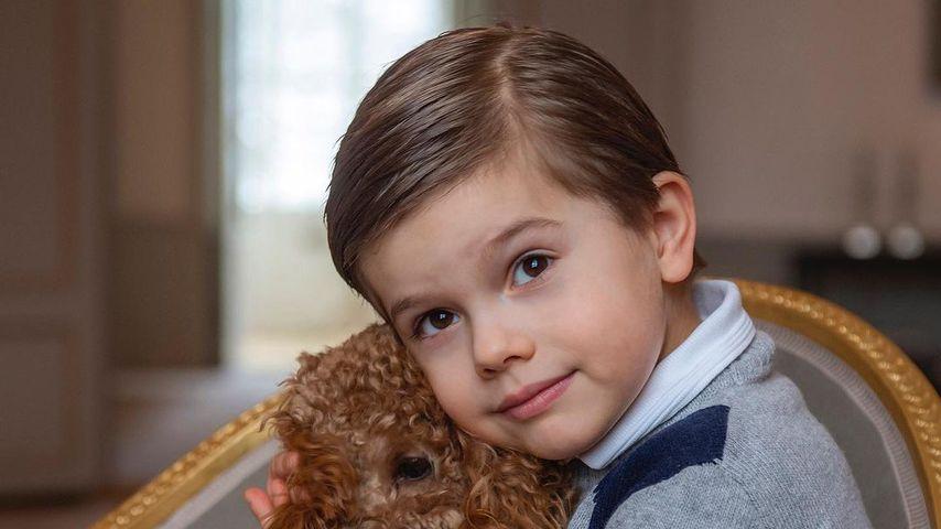 Prinz Oscar von Schweden und sein Hund Rio