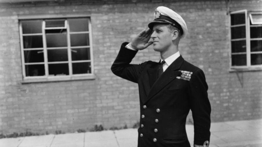 Prinz Philip 1947 auf der Marine-Akademie