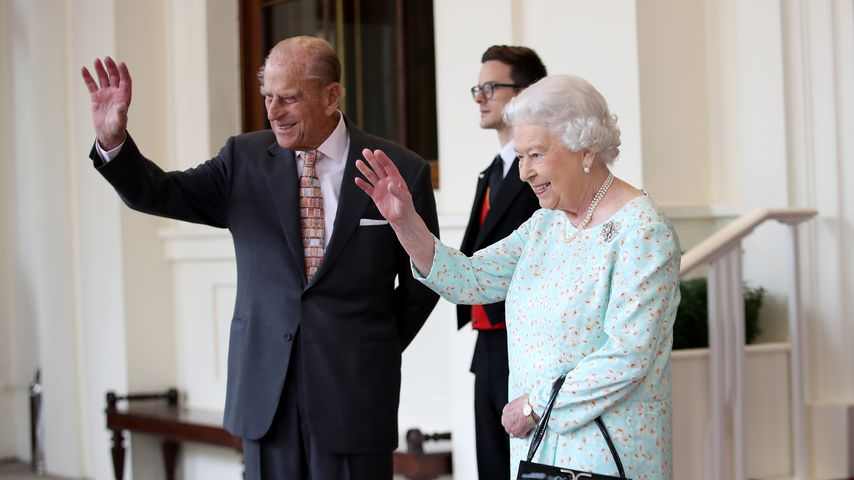 Prinz Philip & Queen Elizabeth II. beim Empfang der spanischen Royals im Buckingham Palace in London