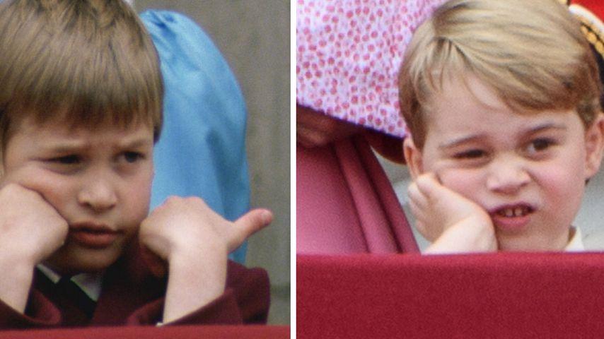 Wie der Papa! Prinz George langweilt sich wie William 1988