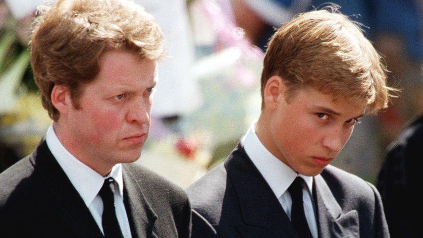 Prinz William bei der Beerdigungsfeier für seine Mutter, Prinzessin Diana, im September 1997