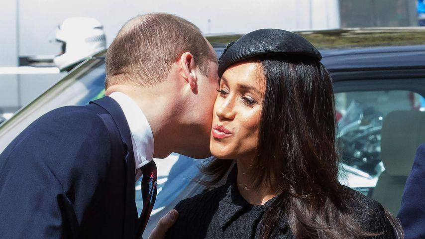 Prinz William: Küsschen für Schwägerin Meghan Markle
