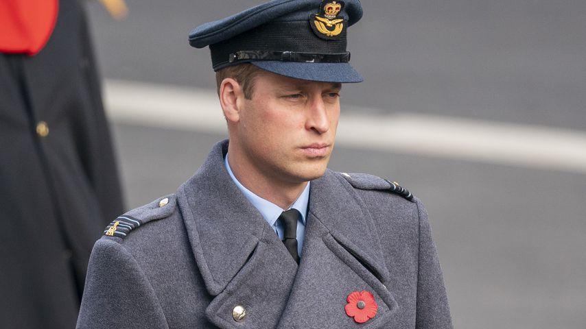 Prinz William am Remembrance Day in London im November 2020