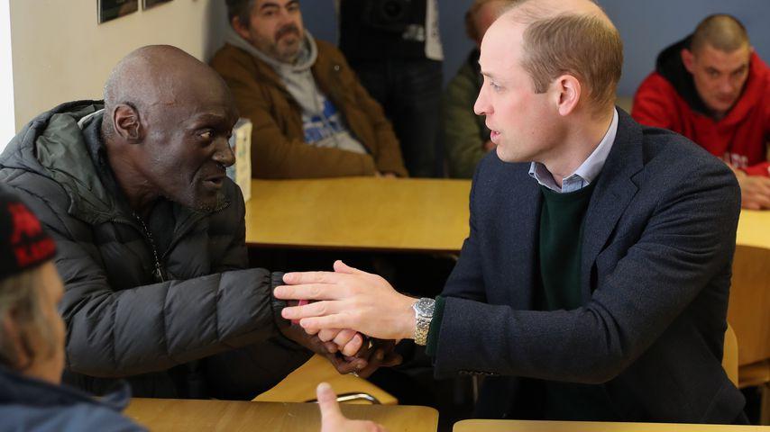 Prinz William beim Besuch eines Tageszentrums für Obdachlose in Mansfield 2020