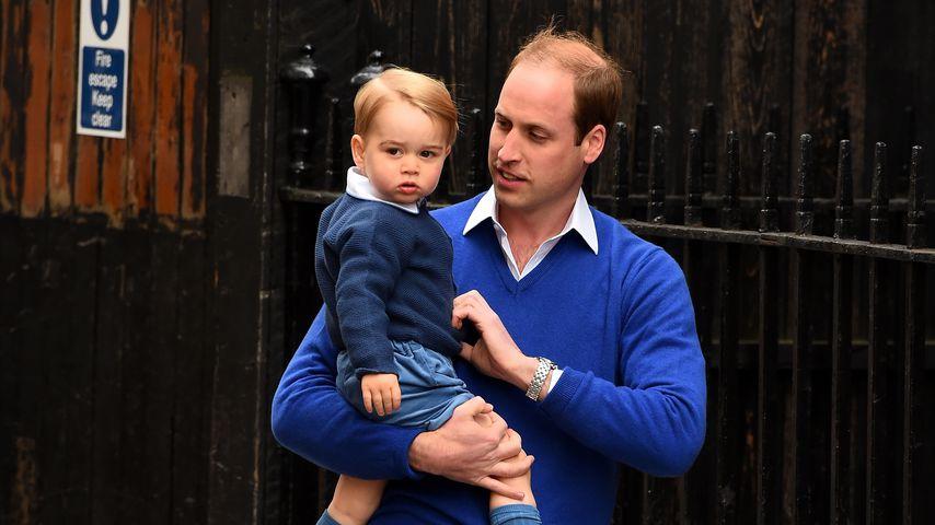 Prinz William mit seinem Sohn Prinz George, Mai 2015