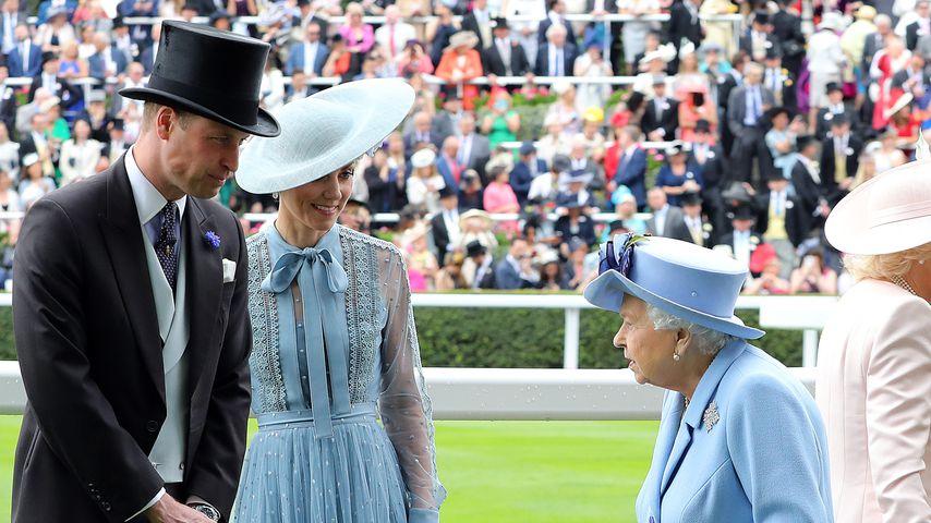 Prinz William, Herzogin Kate und die Queen beim Ascot-Pferderennen 2019