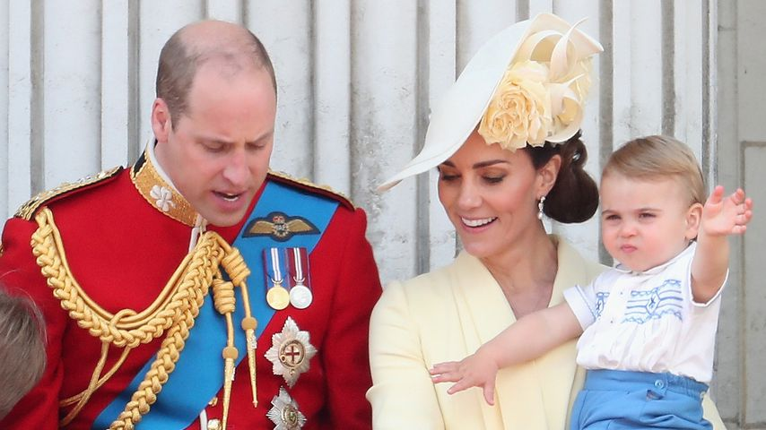 Prinz William, Prinz George, Prinzessin Charlotte, Herzogin Kate und Prinz Louis in London 2019